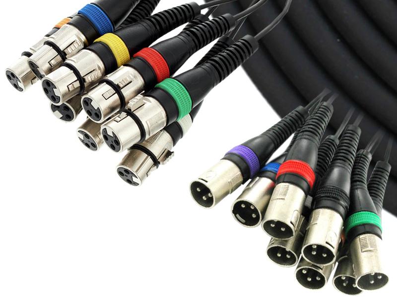 Pmlt01 8-way Xlr Studio Multicore Cable